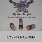 g/ch .416 rifle 347 gr. RNFP per 40 in a plastic ammo box