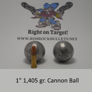 "1"" Cannon Ball per 1"