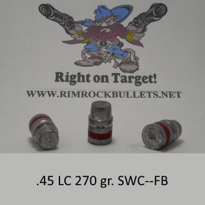 .45 LC 270 gr. SWC-FB Keith per 400