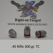 TSH .45 rifle 300 gr. TC per 100