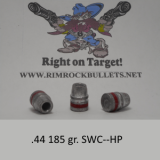 .44 185 gr. SWC-HP FB per 300