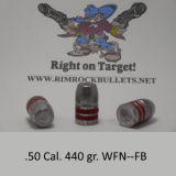 CB .50 rifle 440 gr.  WFN-FB per 100